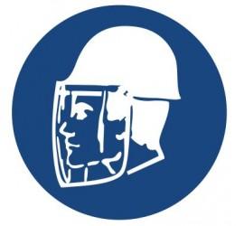 Znak stosuj ochronne twarzy i głowy (425)