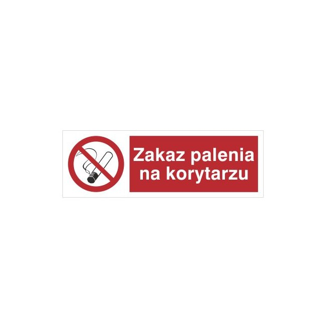 Znak zakaz palenia na korytarzu (209-10)