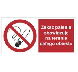 Zakaz palenia obowiązuje na terenie całego obiektu (209-14)