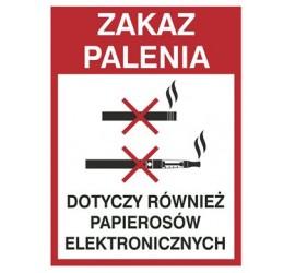Zakaz palenia również papierosów elekt. (209-21)