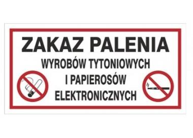 Zakaz palenia wyrobów tytoniowych i pap. elektr. (209-22)