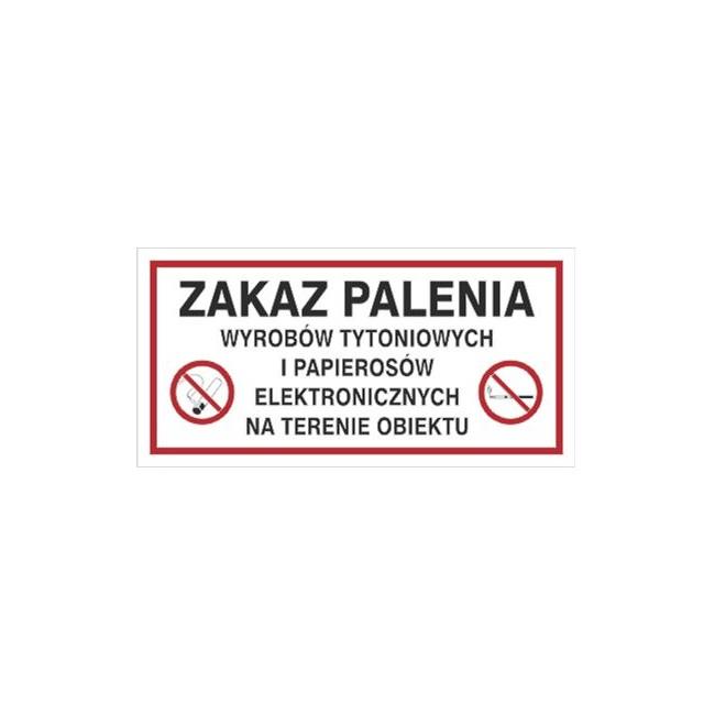 Zakaz palenia wyrobów tytoniowych i pap. Elektr. Na terenie obiektu (209-23)