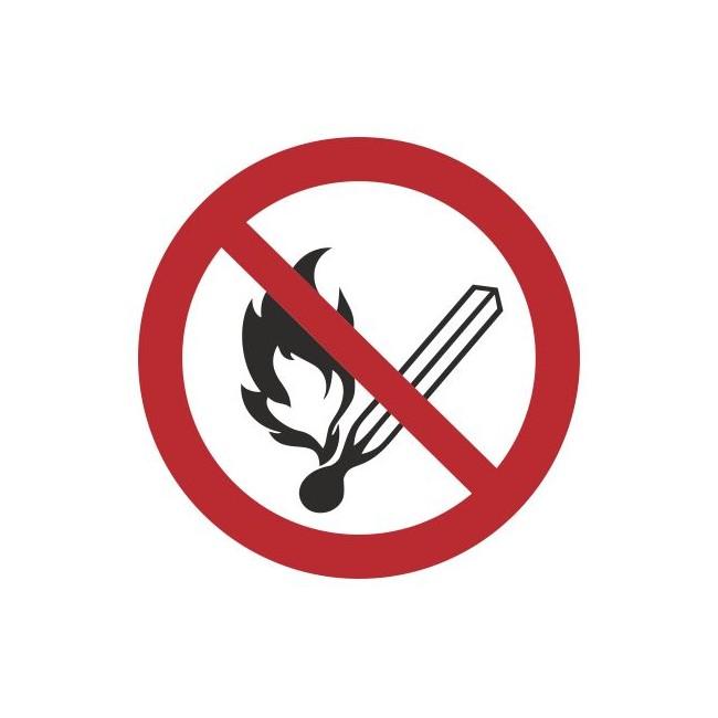 Zakaz używania otwartego ognia (210-08) okrągły