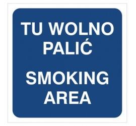 Tu wolno palić smoking area (831-03)