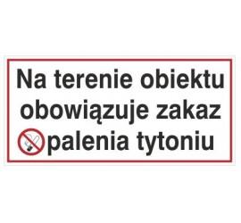 Na terenie obiektu obowiązuje zakaz palenia tytoniu (845)