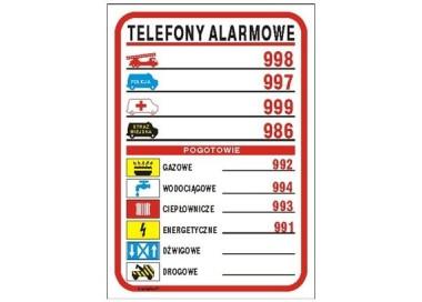 Piktogram Telefony alarmowe