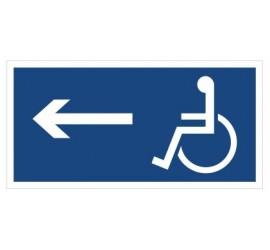 Kierunek drogi dla inwalidów (w lewo) (821)