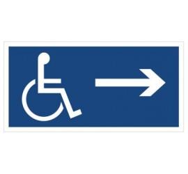 Kierunek drogi dla inwalidów (w prawo) (822)