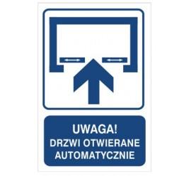 Uwaga! Drzwi otwierane automatycznie (823-122)