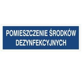 Pomieszczenie środków dezynfekcyjnych (801-154)