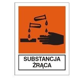 Znak substancja żrąca (700-05)
