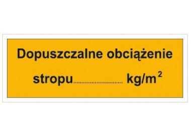 Dopuszczalne obciążenie stropu: …KG/M2 (853)