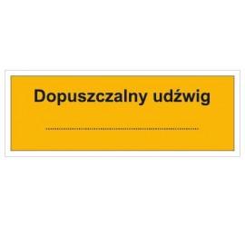 Dopuszczalny udźwig: … (853-08)