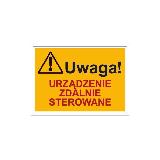Uwaga! Urządzenie zdalnie sterowane (854-01)