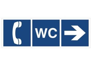 WC, Telefon (kierunek w prawo) (865-01)