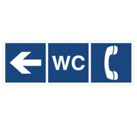 WC, Telefon (kierunek w lewo) (865-02)