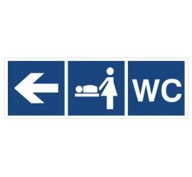 WC, Przewijalnia dzieci (kierunek w lewo) (865-17)