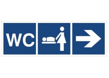 WC, Przewijalnia dzieci (kierunek w prawo) (865-18)