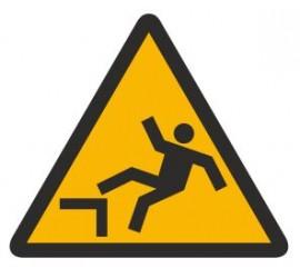 Znak ostrzeżenie przed śliskimi schodami (326)