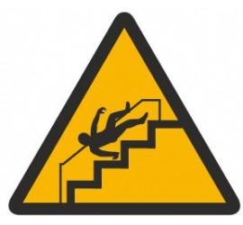 Znak ostrzeżenie przed niebezpieczeństwem upadku na schodach (341)