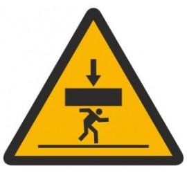 Znak ostrzeżenie przed niebezpieczeństwem przygniecenia przez spadające obciążenie (343)