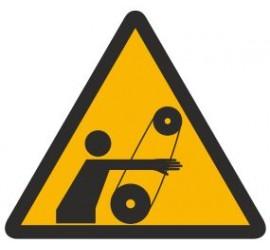 Znak ostrzeżenie przed ruchomymi elementami (346)
