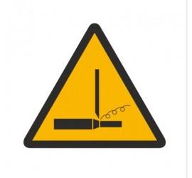 Znak ostrzeżenie przed wiórami wstęgowymi (347)