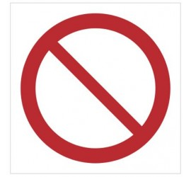 Znak ogólny znak zakazu (P01)