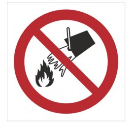 Znak zakaz gaszenia wodą (P11)