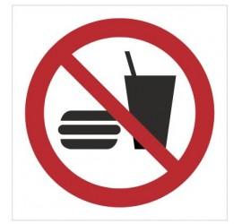 Znak zakaz spożywania posiłków (P22)