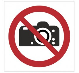 Znak zakaz fotografowania (P29)