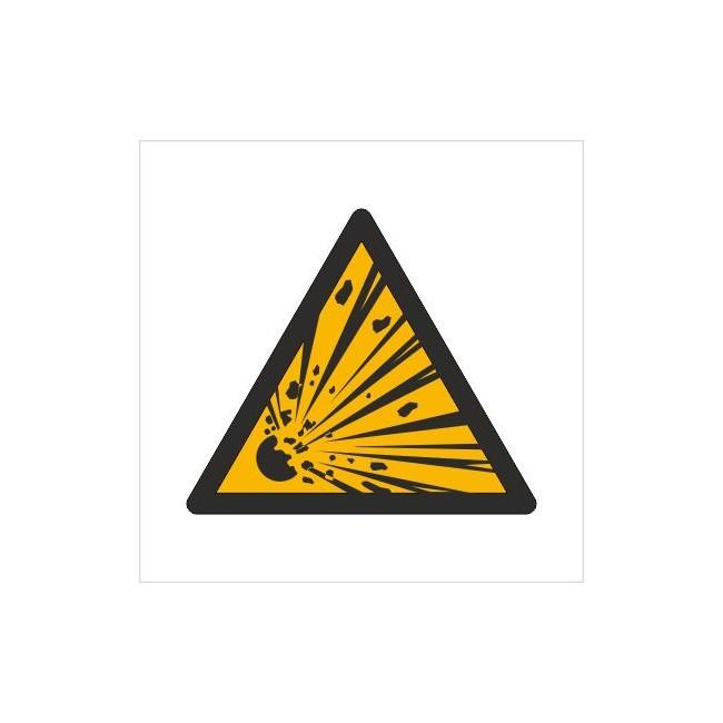 Znak ostrzeżenie przed niebezpieczeństwem wybuchu (W02)