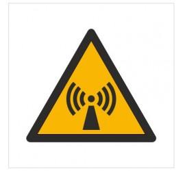 Znak ostrzeżenie przed promieniowaniem niejonizującym (W05)