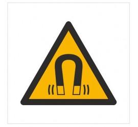 Znak ostrzeżenie przed silnym polem magnetycznym (W06)