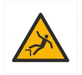 Znak ostrzeżenie przed spadnięciem (upadkiem) (W08)