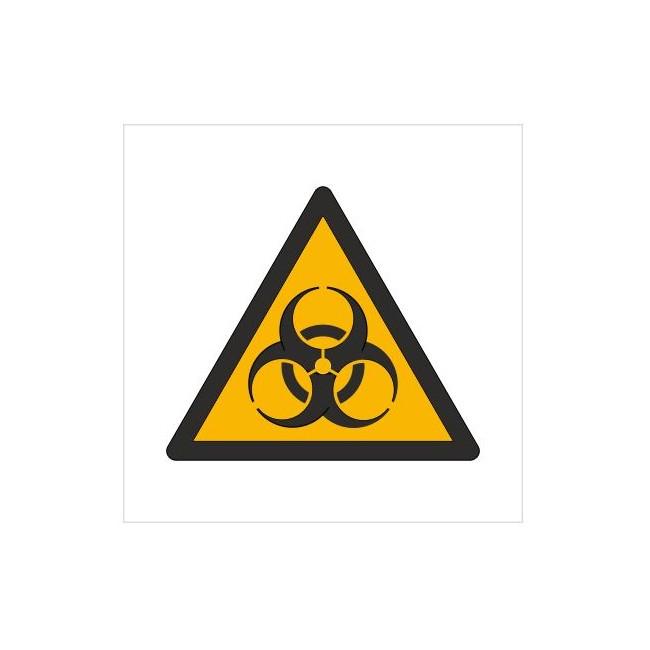 Znak ostrzeżenie przed skażeniem biologicznym (W09)