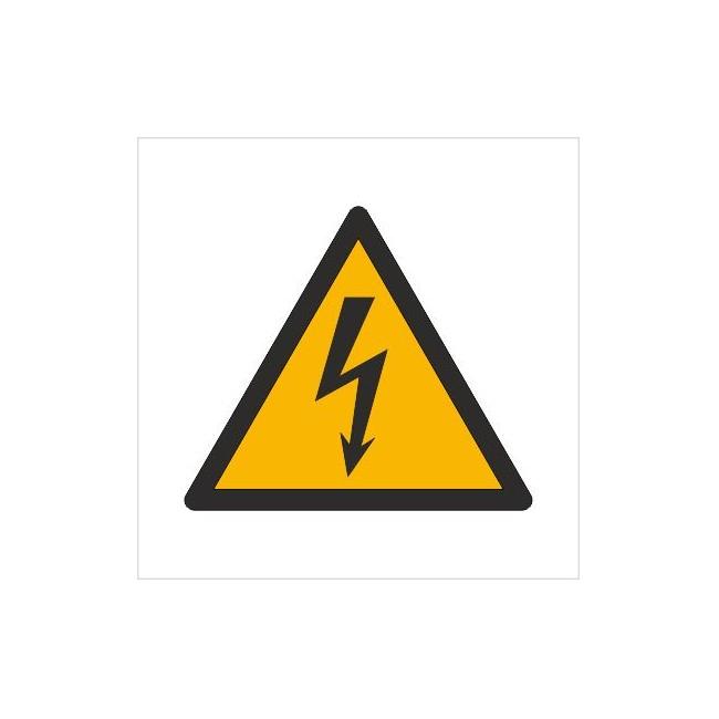 Znak ostrzeżenie przed napięciem elektrycznym (W12)