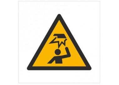 Znak ostrzeżenie przed uszkodzeniem głowy (W20)