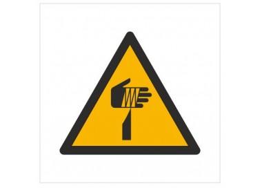 Znak ostrzeżenie przed ostrymi elementami (W22)