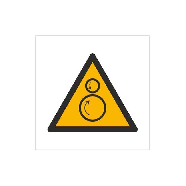 Znak ostrzeżenie przed ruchomymi rolkami (W25)