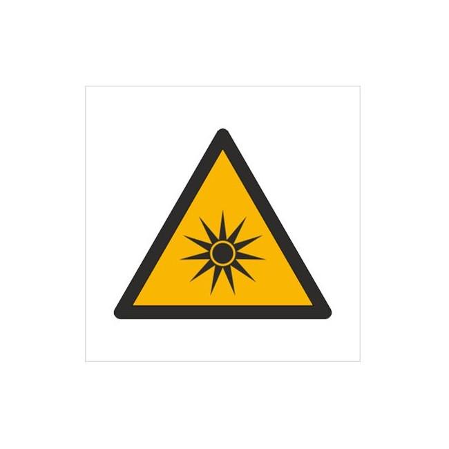 Znak ostrzeżenie przed promieniowaniem optycznym (W27)