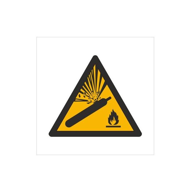 Znak ostrzeżenie przed butlami pod ciśnieniem (W29)