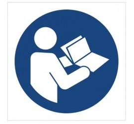 Znak nakaz przeczytania instrukcji (M02)
