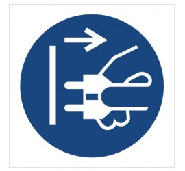 Znak nakaz odłączenia urządzenia od sieci elektrycznej (M06)