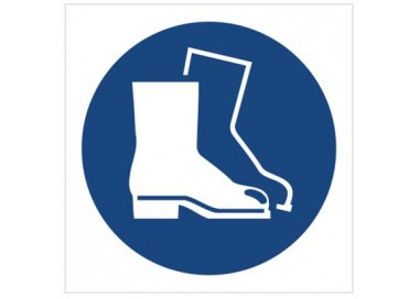 Znak nakaz stosowania ochrony stóp (M08)