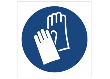Znak nakaz stosowania ochrony rąk (M09)