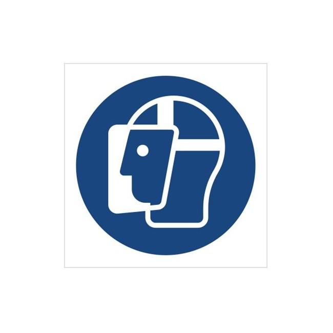 Znak nakaz stosowania ochrony twarzy (M13)