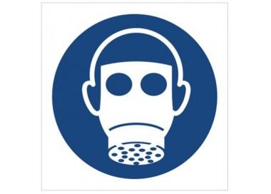 Znak nakaz stosowania ochrony dróg oddechowych (M17)
