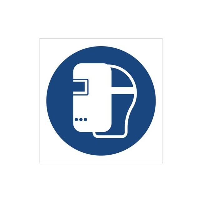 Znak nakaz stosowania maski spawalniczej (M19)