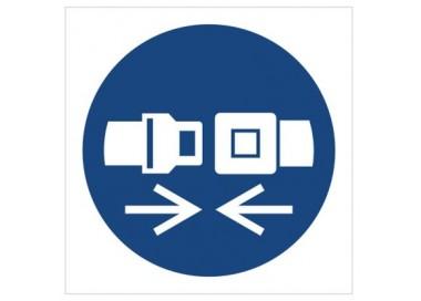 Znak nakaz stosowania pasów bezpieczeństwa (M20)
